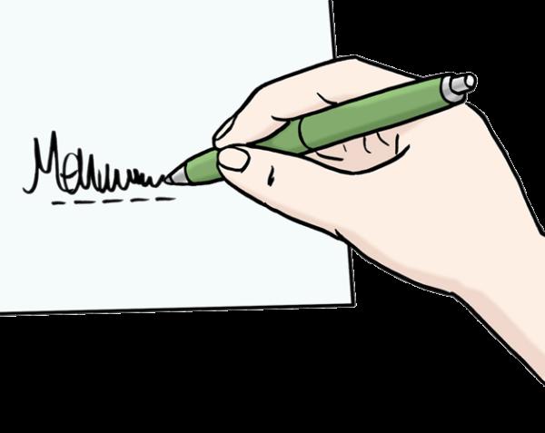 unterschreiben