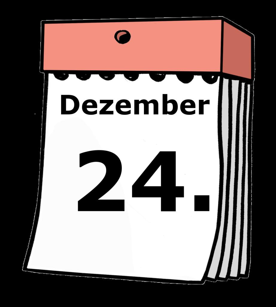 Kalenderblatt: 24. Dezember