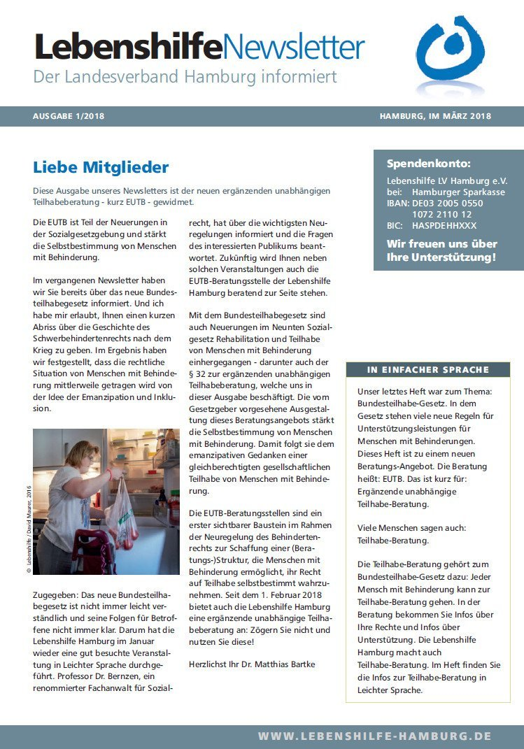 Newsletter März: Titelseite