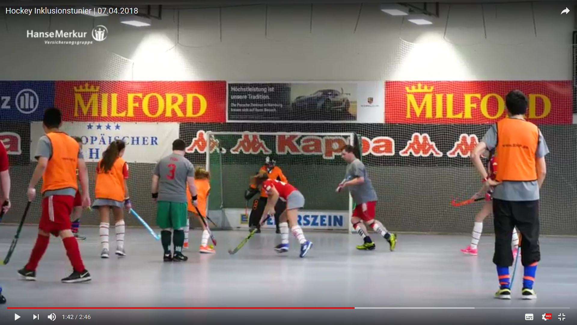 Hockey-Spieler in Aktion