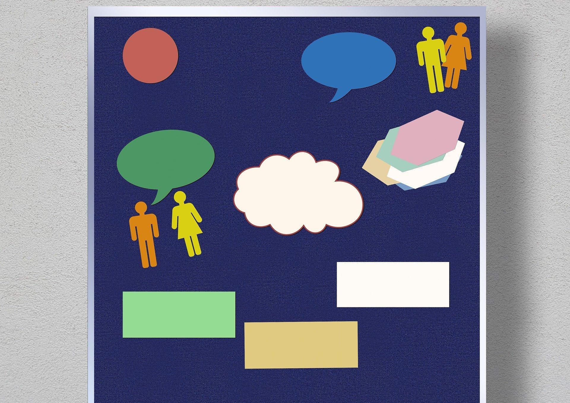 Pinnwand mit leeren Moderationskarten