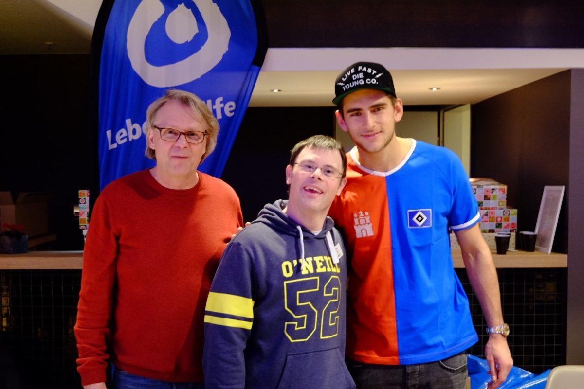 Robin und HSV Torwart