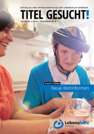 Titelbild Lebenshilfe Newsletter Dezember 2018, 2 Menschen am Küchentisch