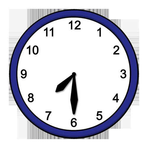 Uhr zeigt 19:30 Uhr an