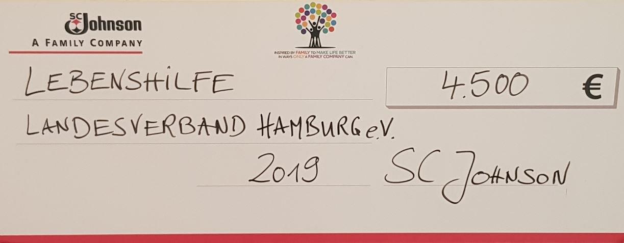Foto Scheck: 4.500€ für die Lebenshilfe Hamburg
