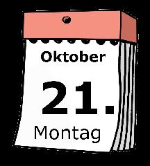 Kalender: Montag, 21. Oktober