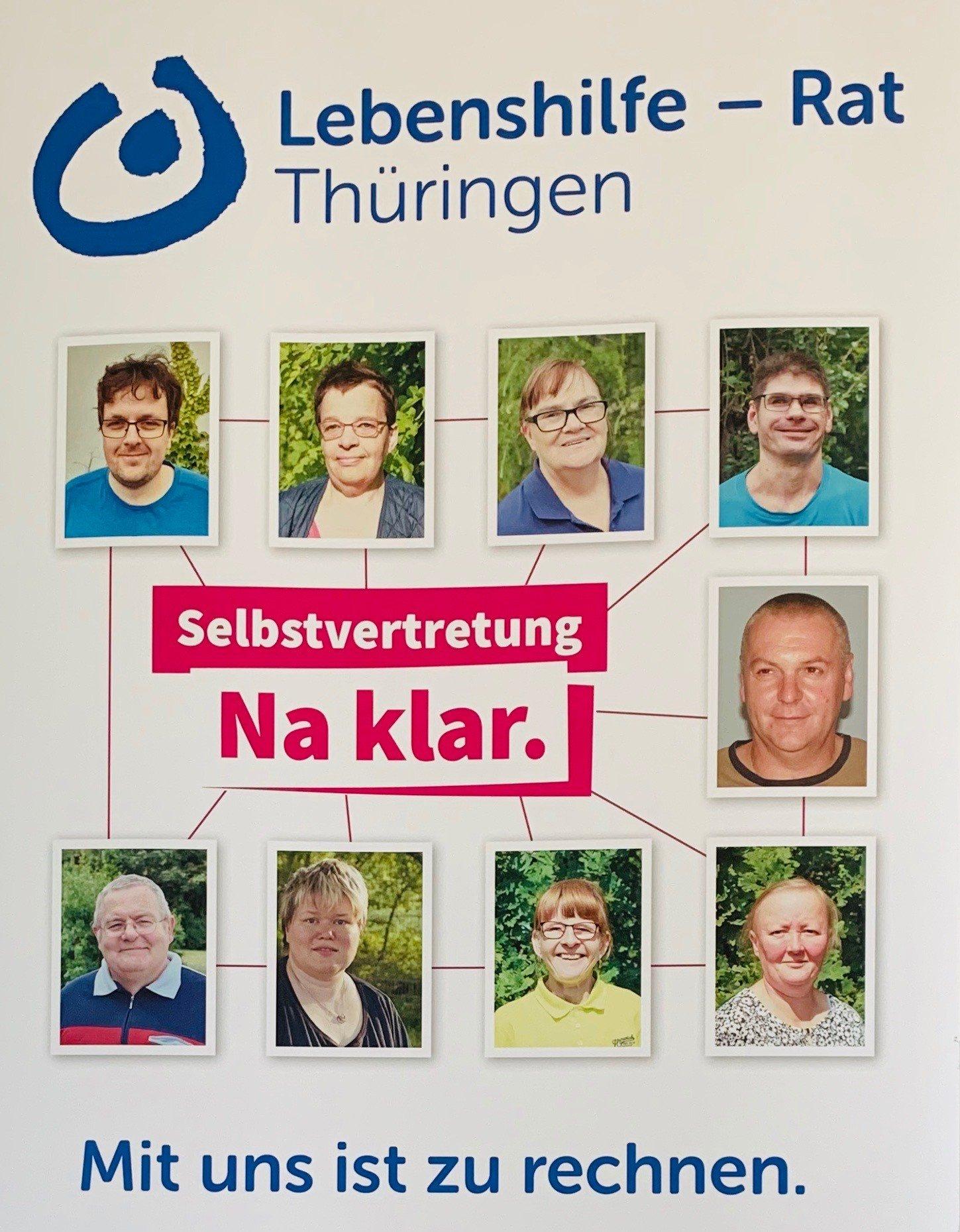 Seblstvertreterinnen und Selbstvertreter der Lebenshilfe Thüringen