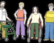 Zeichnung: Verschiedene Menschen