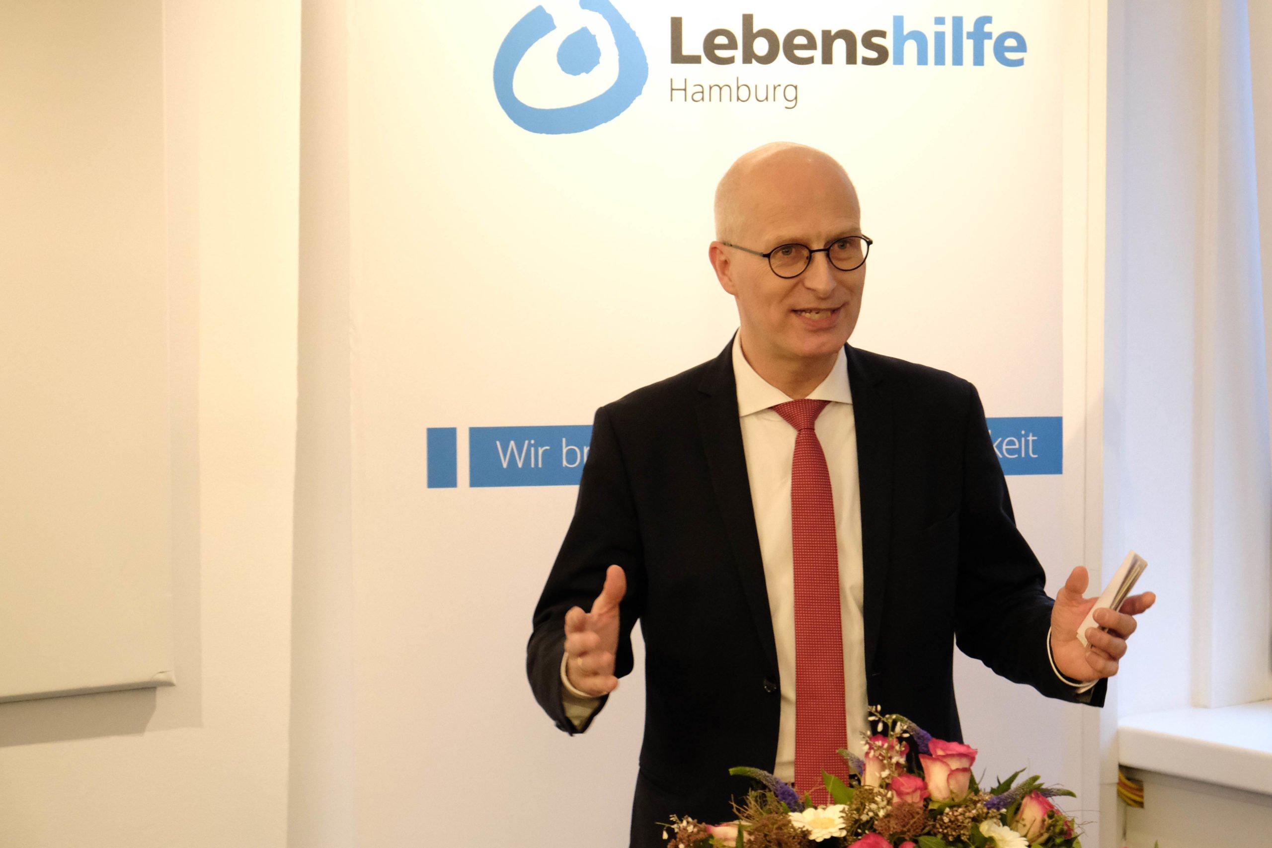 Dr. Peter Tschentscher beim Grußwort