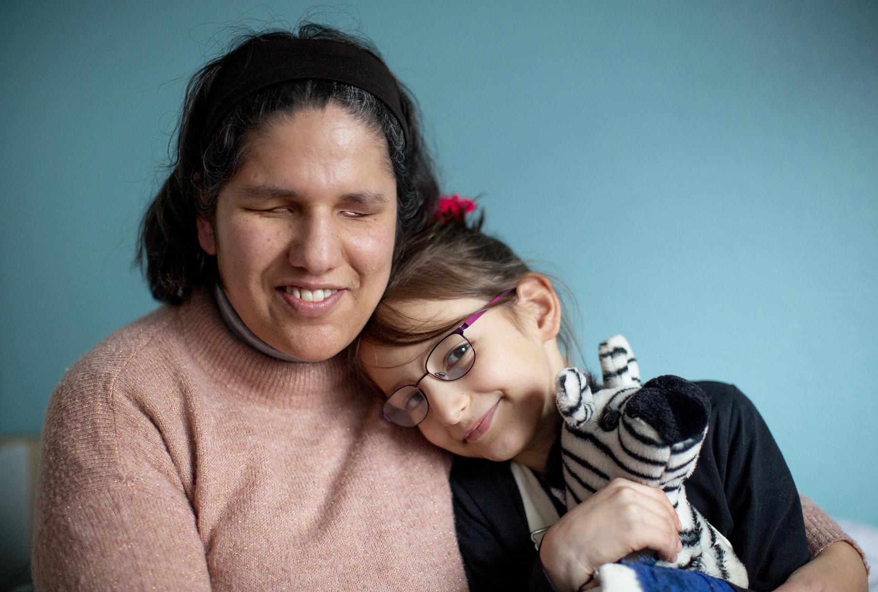 Frau Tavonius mit ihrer Tochter