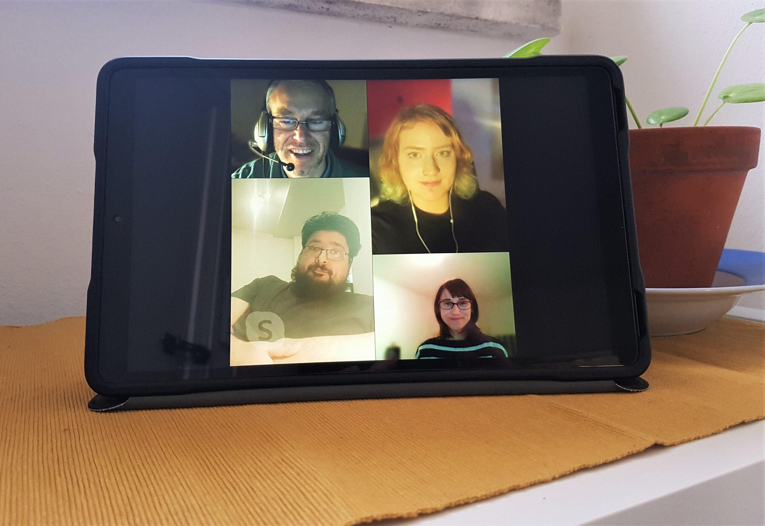 Skype auf Tablet