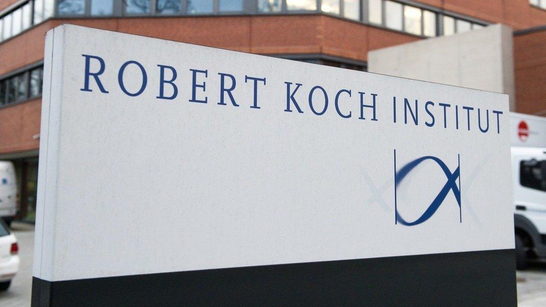 Schild: Rober Koch Institut