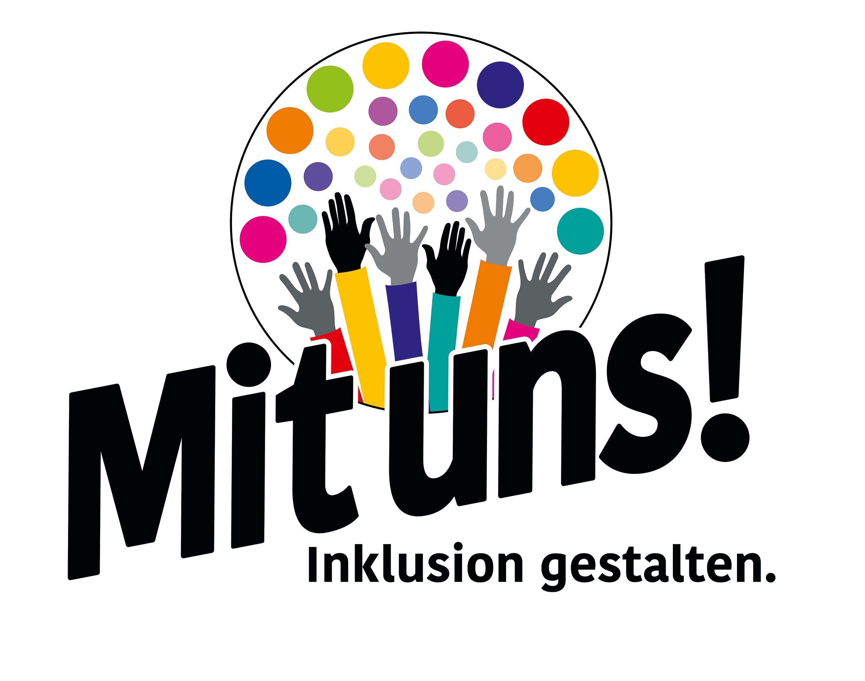 """Logo von Umfrage-Aufruf """"Mit uns! Inklusion gestalten"""""""