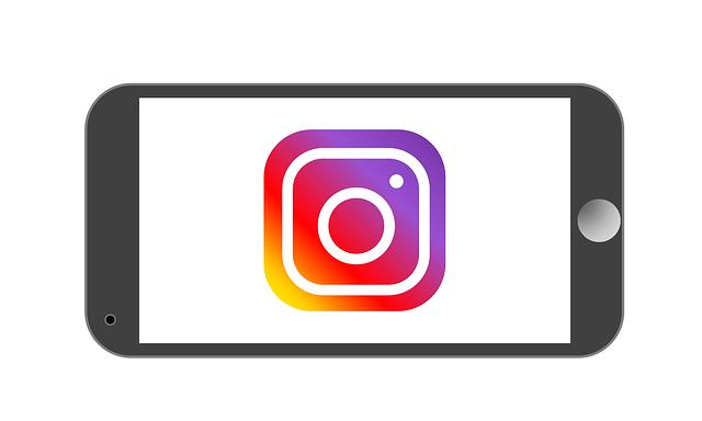 Grafik: Handy mit Instagram-Logo